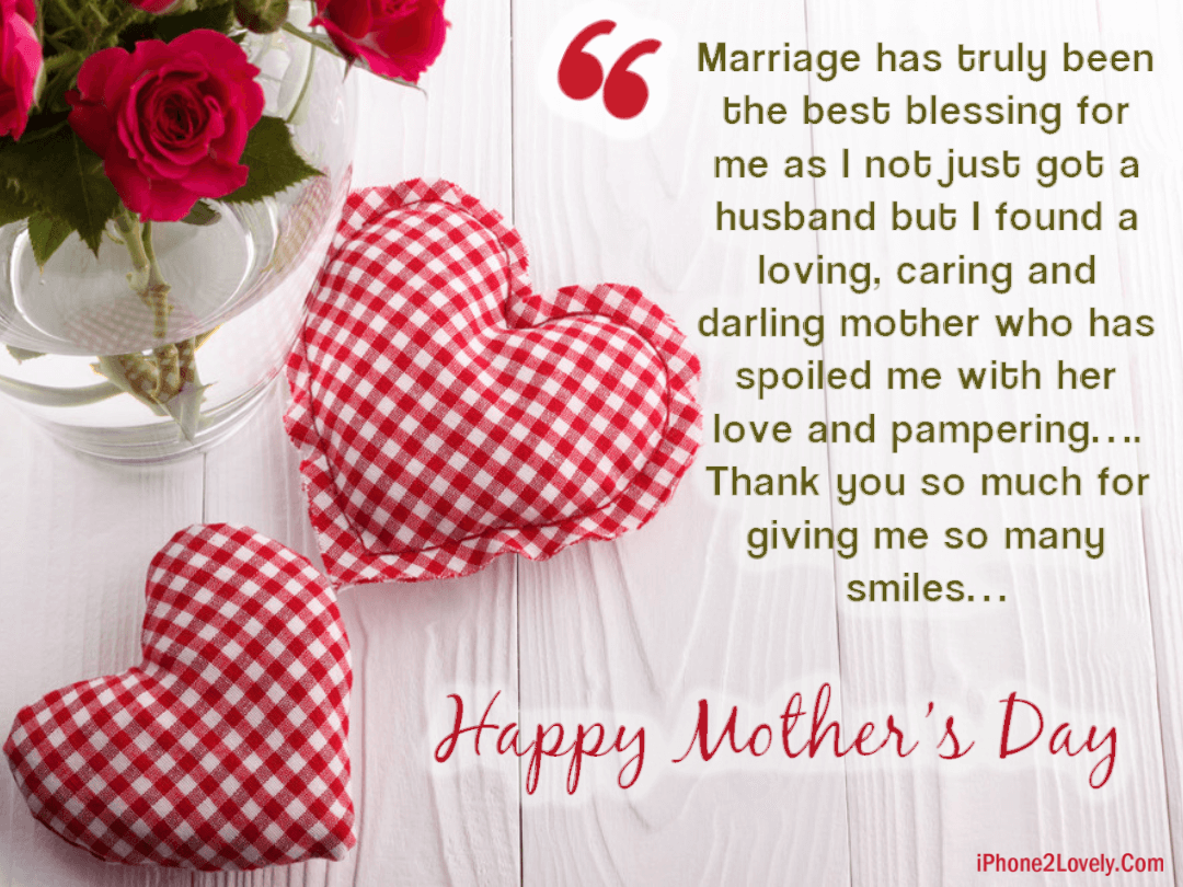 Happy Mother\'s Day Quotes from Daughter in Law 2019 ...