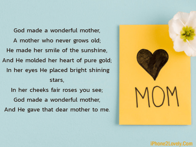 25 Happy Mothers Day Poems To Wish Your Mom Iphone2lovely